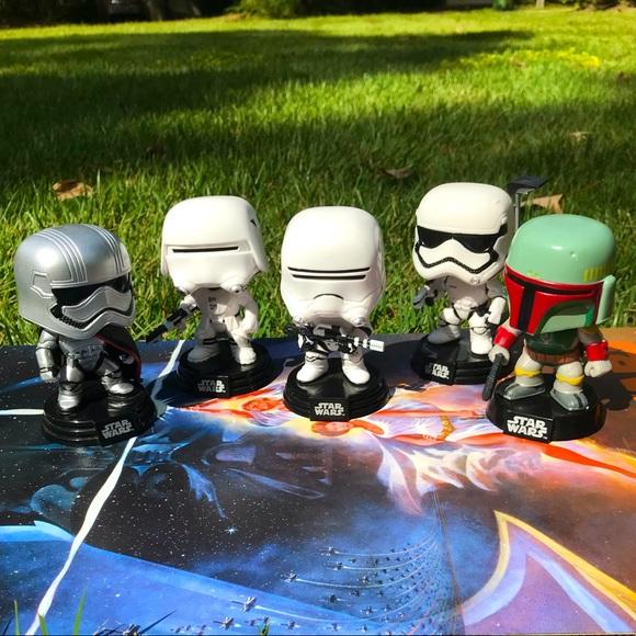 Set Of 5 Stormtrooper Funko Pop Set Bobbleheads